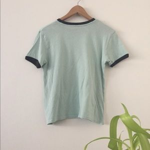 Volcom Tops - Volcom Logo Ring it Up Graphic Tee in Mint Green